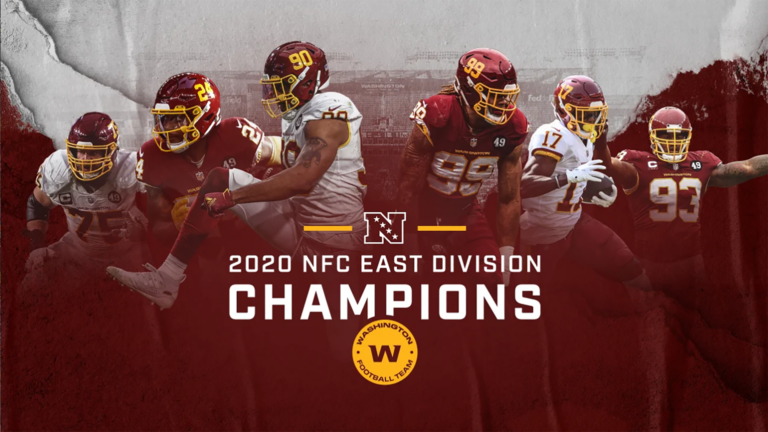 Washington Football team NFC East Champion Banner