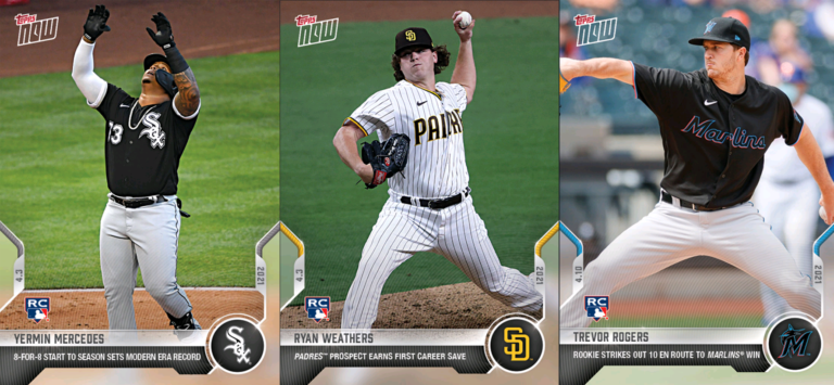 Photos of three of top major league baseball rookies